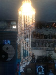 Cowrie shells hanging lamp