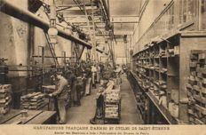 France manufacture of WEAPONS, incl. 1-52 x-In and exteriors including Usine Schneider-1914/1920