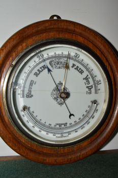 VIctorian Wall Aneroid Barometer - England- Ca 1870
