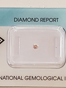 natural fancy brownish - pink diamond 0,08 carat  NO RESERVE PRICE