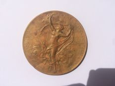 France - 'International Electrical Exhibition' medal 1882 by O. Roty – bronze