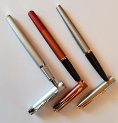 3x Parker fountain pen - Inflection,Im,45 flighter  in box