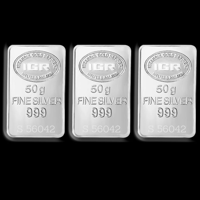 IGR- 3 x 50 gr. - 999/1000 - Minted/ Sealed