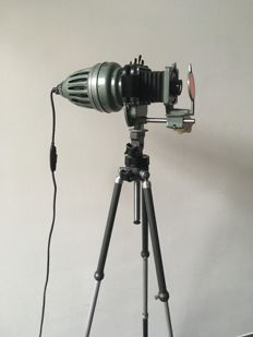 Meopta Axomat - Tripod lamp / antique doka lamp.