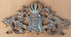 Wall ornament with French Coat of arms -1st half 19th century
