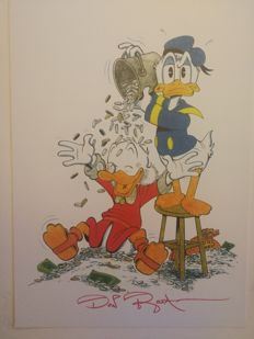 Rosa, Don - Signed Print - Uncle Scrooge and Donald Duck