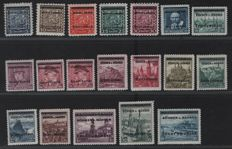 German occupation issues, 2nd World War - 1939-1945 - almost complete collection with Generalgouvernement, Bohemia and Moravia, Luxembourg and many more.