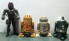 action figure star wars,the only two R1-88,one commando and one grenn astromech droid