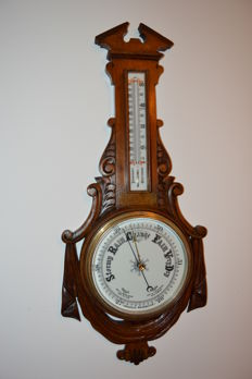 Victorian Aneroid Barometer - England - Ca 1880