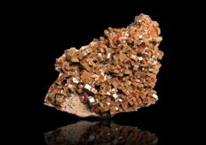 Large Vanadinite crystals with Goethite on Matrix - 111 x 86 x 58 mm - 323 g
