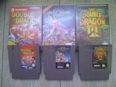 Lot of 3 Nintendo NES games - Double Dragon I, II & III - Full Trilogy