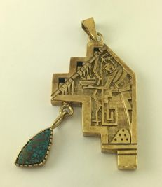 925 silver pendant turquoise