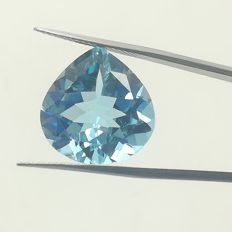 Swiss blue topaz 12.10 ct