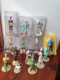 Herge - 14x figurines Moulinsart + 4x figurines Carrefour - Tintin: La collection officielle - (2011-2014)
