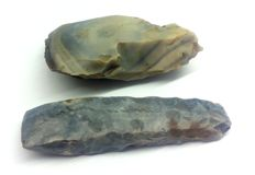 Long Mesolithic flint axes 135mm