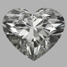 0.90ct Heart Brilliant Diamond  I VS2   IGI - SEALED - Original image 10EX  serial#1575