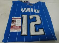Dwight Howard (Superman) Adidas t-shirt, Orlando Magic with original autograph and jsa / loa certificate