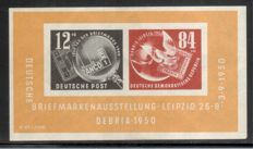 GDR of East Germany 1950/64, all blocks are complete, Michel no. block 7-22 + outer space sheetlet, Michel no. 926-33