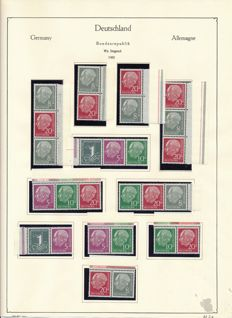 Federal Republic of Germany - 1955 - 1971 - Complete collection in lighthouse clamp binder with Heuss se-tenants