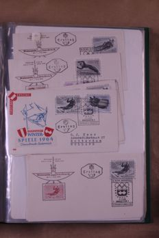 Austria 1963/1990 - Batch of FDCs and covers in 5 Importa albums