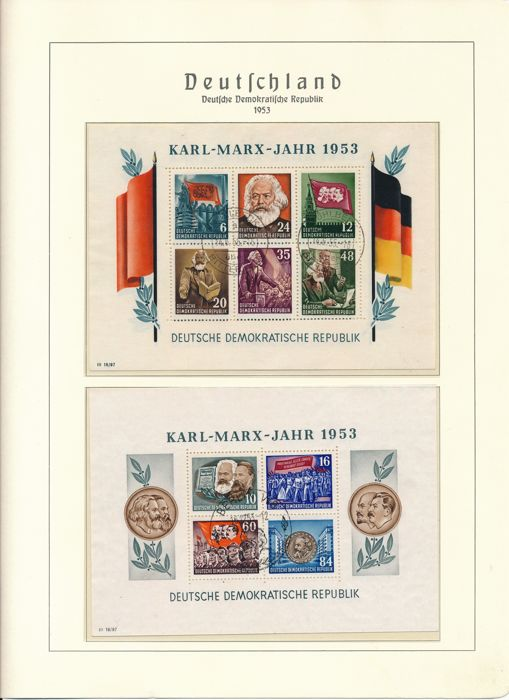 East Germany - 1949 - 1969 - complete collection with German Chinese friendship and Marx blocks in Leuchtturm album