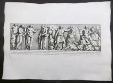 "Petrus Sanctus Bartolus (1635-1700) - Frieze: ""Tabula h&c non ad Domitianum, at potius ad Neruam spectare..."" Domitianum, Palladium, Vespasianus - Celebrations At A Roman Wedding - 47 x 33.5 cm - 1693"