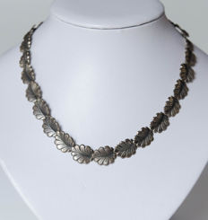 Silver necklace with beautiful pattern - Theodor Klotz (TEKA), Germany