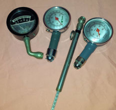 Four different air pressure metres