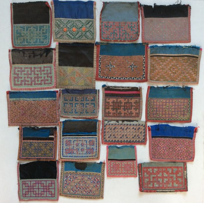 Collection of Back Collars - Hmong - mid 20th Century