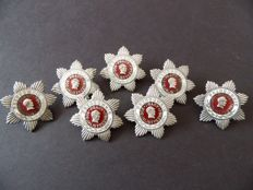 Medals and badges of Shock Workers of Communist Labour. PRL