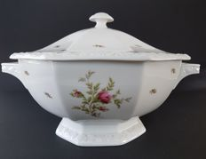 Rosenthal, Large Soup tureen - Moss rose, model Maria