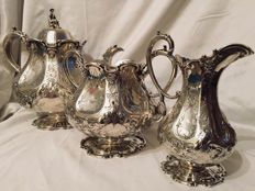 Sterling Silver Tea Set, Martin Hall & Co, England, Sheffield, England, 1862