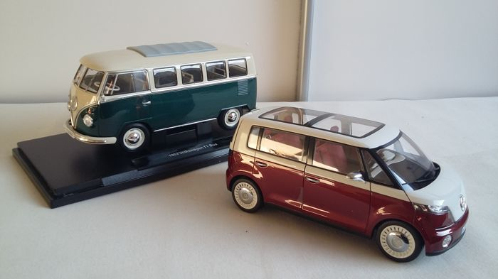 Welly-Nex / Norev - Scale 1/18 - VW T1 microbus 1963 & VW Bulli