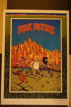 Freak Brothers screen print by Gilbert Shelton