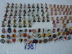 Collection of football pins, approx. 138 pieces