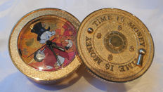 "Disney - Alarm Clock - Scrooge McDuck Valt - ""Time is Money"" (ca. 1980's)"