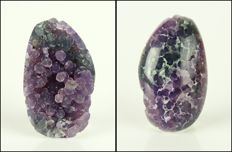 Fancy Shape Grape Chalcedony Cabochon - 3.6 x 2.2 x 1.3 cm - 10 gm