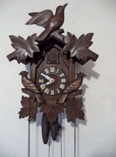 Large wooden Black Forest Cuckoo Clock - 2nd half of the 20th century