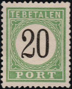 Curaçao 1889 - Postage Due Number in black - NVPH P6, type II