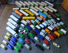 Herpa/Wiking/Praline H0 - 86-piece package with trucks, panel vans, buses and others