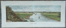 Old school poster with the Rhine at Rhenen 1919