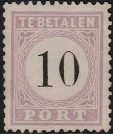 Suriname 1886/1888 - Postage due number in black - NVPH P3 Type III