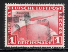 German Empire 1926-34, lot with various cancelled Zeppelin and airmail stamps