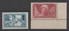 France 1928/1930 - Caisse d'amortissement - Yvert 252 and 256