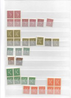 Germany 1921/1944 - Dienstmarken - service stamps with numerous blocks of four