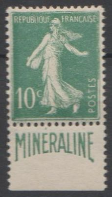 France 1924/1926 - Semeuse type with Minerale edge part - Yvert 188A