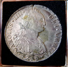 Spain - Carlos IV (1788-1808) – 8 Reales 1798 mint of Lima IJ - Silver