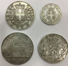 World - Coin collection (around 4 pieces) - silver