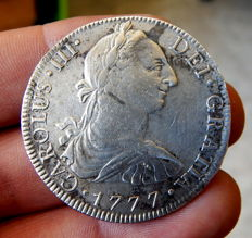 Spain - Carlos III (1759-1788) - 8 Reales 1777 mint of Mexico FF - Silver