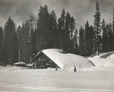 Ansel Adams (1902-1984) - Yosemite ski lodge, Badger pass, 1953